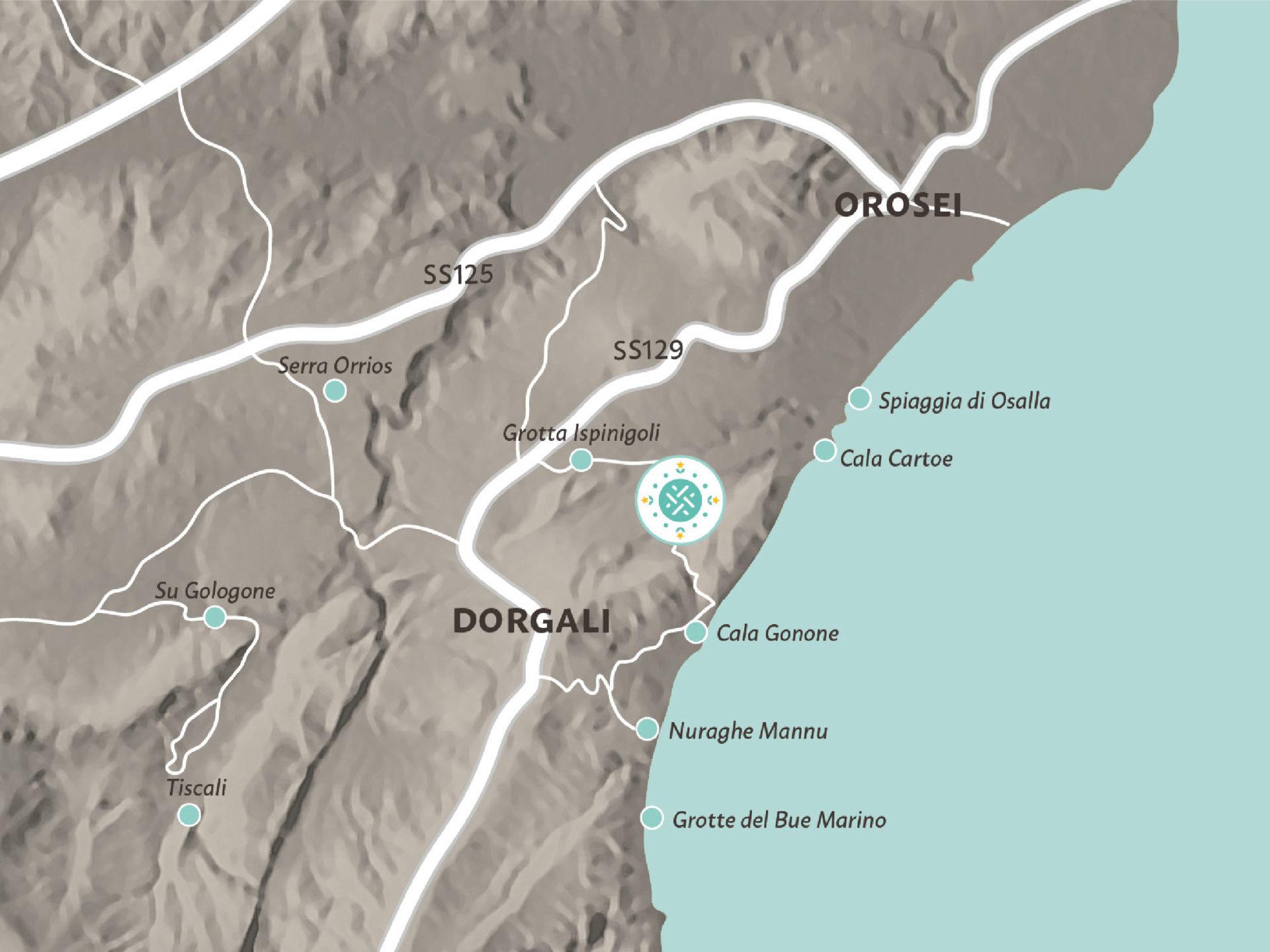 Cartina Michelin Roma.Dorgali Sardinia Map